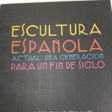 Libros de segunda mano: ESCULTURA ESPAÑOLA ACTUAL UNA GENERACION PARA UN FIN DE SIGLO. FRANCISCO CALVO SERRALLER 1992. Lote 199130748