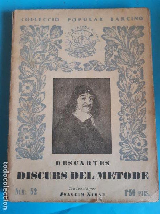 COLECCION POPULAR BARCINO. DESCARTES. DISCURS DEL METODE (Libros de Segunda Mano - Ciencias, Manuales y Oficios - Otros)