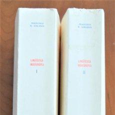 Livres d'occasion: LINGÜÍSTICA INDOEUROPEA - FRANCISCO R. ADRADOS - DOS TOMOS - EDITORIAL GREDOS AÑO 1975. Lote 199903182