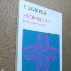 Libri di seconda mano: SINCRONICIDAD. F. DAVID PEAT. KAIROS, 1995. 2ª ED. 289 PP. Lote 199917861