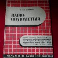 Libros de segunda mano: RADIO GONIOMETRIA . Lote 200182905