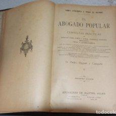 Libros de segunda mano: EL ABOGADO POPULAR. Lote 200399891