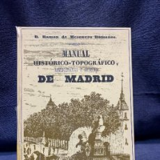 Libros de segunda mano: MANUAL HISTORICO TOPOGRAFICO ADMINISTRATIVO ARTISTICO MADRID RAMON MESONERO ROMANOS CAJA MADRID. Lote 200746416