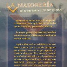 Libros de segunda mano: LA MASONERIA EN SU HISTORIA Y SUS GRADOS - MARIANO TIRADO Y ROJAS. Lote 200873135