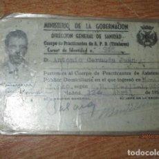 Libros de segunda mano: FAMOSO PINTOR ANTONIO CERNUDA JUAN CARNET ANTIGUO 1949 PINTOR Y PRACTICANTE DE ALICANTE. Lote 201588965