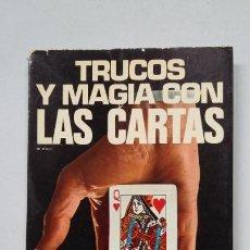 Libros de segunda mano: TRUCOS Y MAGIA CON LAS CARTAS. MARÍANO VOLPI. EDITORIAL DE VECCHI. TDK321. Lote 201717773