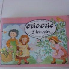 Libros de segunda mano: CRIC CRIC PREESCOLAR 2O TRIMESTRE 1982. Lote 201997375