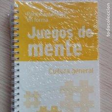 Libros de segunda mano: JUEGOS DE MENTE 13 CULTURA GENERAL PARA MANTENERSE EN FORMA. Lote 201999882