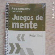 Libros de segunda mano: JUEGOS DE MENTE 12 RETENTIVA PARA MANTENERSE EN FORMA. Lote 201999933