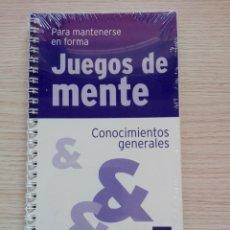 Libros de segunda mano: JUEGOS DE MENTE 7 CONOCIMIENTOS GENERALES PARA MANTENERSE EN FORMA. Lote 202000250