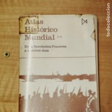 Libros de segunda mano: ATLAS HISTORICO MUNDIAL, DE LA REVOLUCIÓN FRANCESA A NUESTROS DÍAS. Lote 202038738
