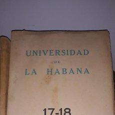 Libros de segunda mano: UNIVERSIDAD DE LA HABANA,MARZO ,ABRIL MAYO,JUNIO 1938. Lote 202264222
