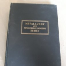 Libros de segunda mano: METALLURGY AND METALLURGICAL ENGINEERING SERIES .. Lote 202323681