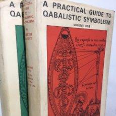 Libros de segunda mano: A PRACTICAL GUIDE TO QABALISTIC SYMBOLISM. VOL. I AND VOL. II.GARETH KNIGHT,HELIOS BOOK SERVICE 1972. Lote 219208962