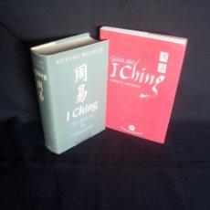 Libros de segunda mano: RICHARD WILHELM Y CAROL K. ANTHONY - I CHING, EL LIBRO DE LAS MUTACIONES Y LA GUIA DEL I CHING. Lote 202696623