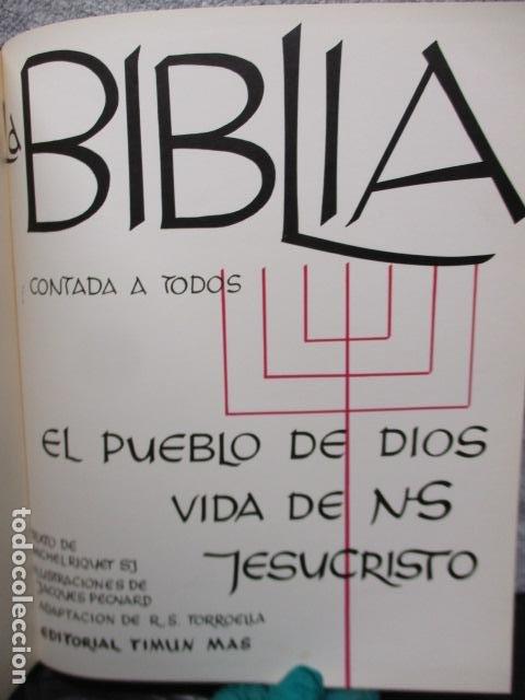 Libros de segunda mano: La Biblia contada a todos por Michel Riquet de Ed. Timun Mas - Foto 9 - 263107010