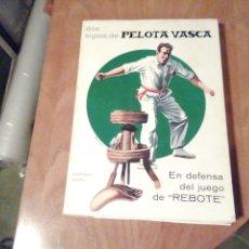 Libros de segunda mano: DOS SIGLOS DE PELOTA VASCA. Lote 202866732