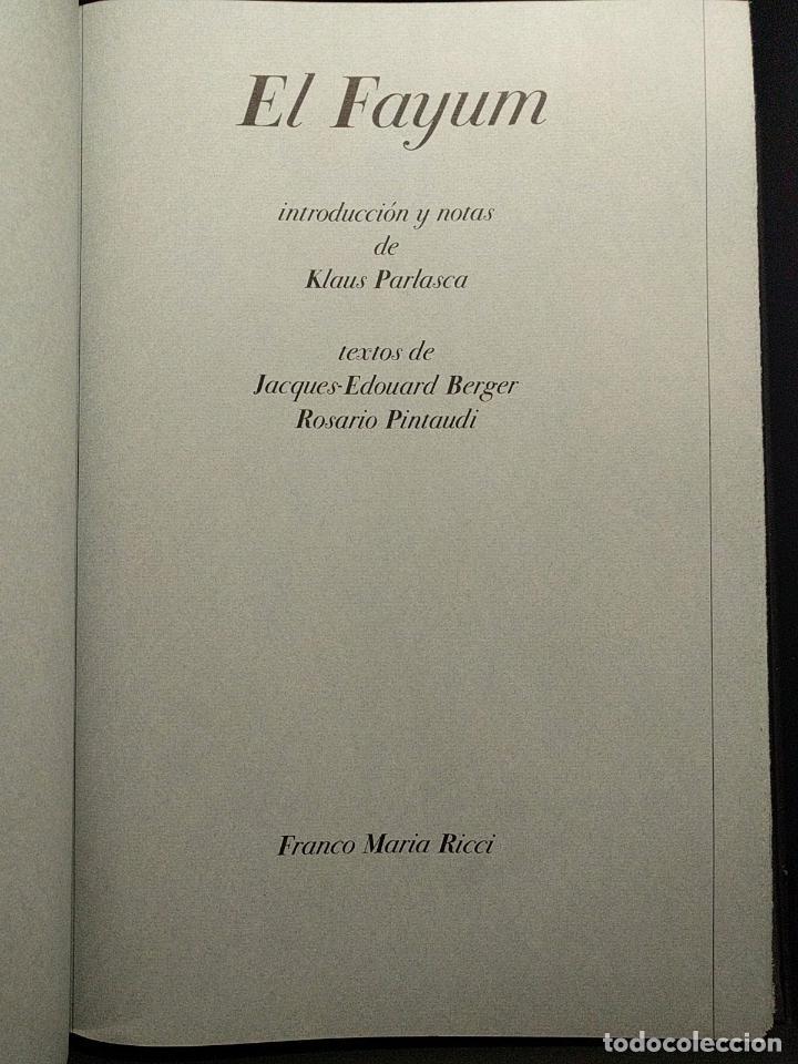 Libros de segunda mano: El Fayum. Klaus Parlasca. Jacques-E. Berger, R. Pintauldi. Franco Maria Ricci. FMR. 1999. - Foto 3 - 229719995