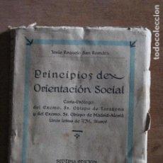 Libros de segunda mano: PRINCIPIO DE ORIENTACION SOCIAL. Lote 203506775