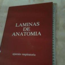 Libros de segunda mano: LIBRO LAMINAS DE ANATOMIA DEL APARATO RESPIRATORIO 1983. Lote 203524108