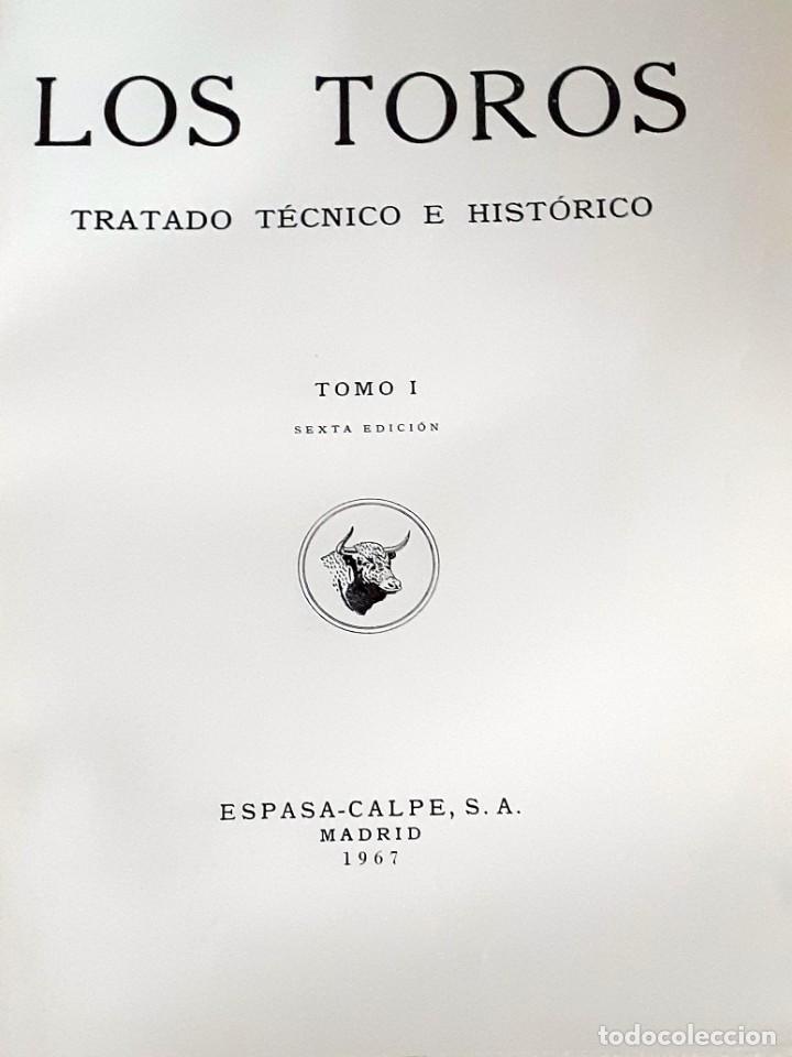 Libros de segunda mano: LOS TOROS TRATADO TECNICO E HISTORICO, 4 tomos. ESPASA CALPE S.A 1967 1965 1969,J MARIA COSSIO - Foto 5 - 203622040