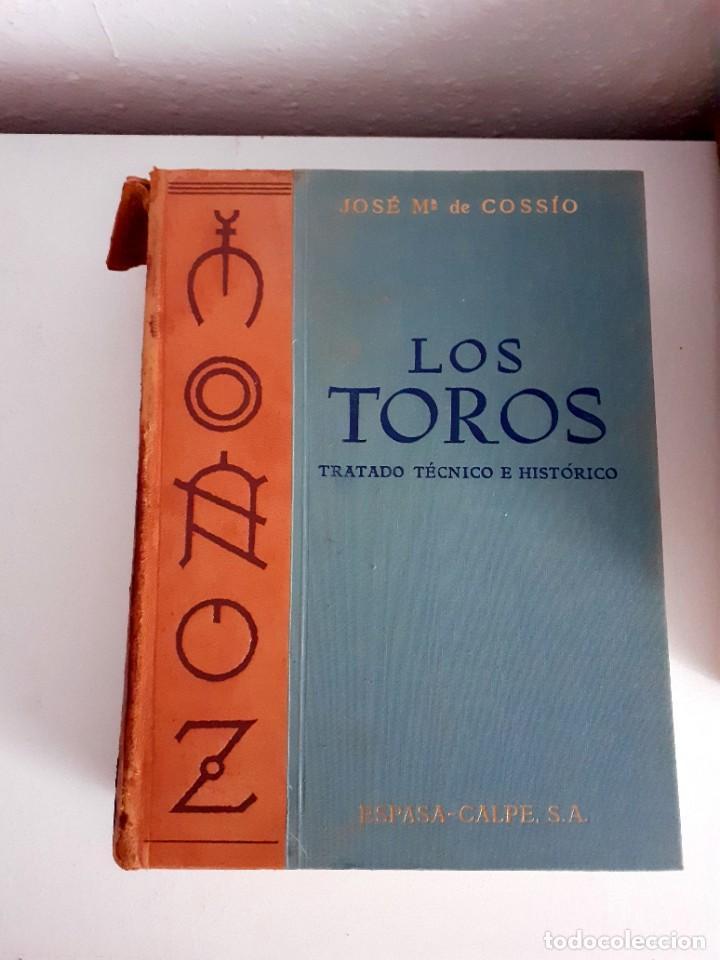 Libros de segunda mano: LOS TOROS TRATADO TECNICO E HISTORICO, 4 tomos. ESPASA CALPE S.A 1967 1965 1969,J MARIA COSSIO - Foto 4 - 203622040