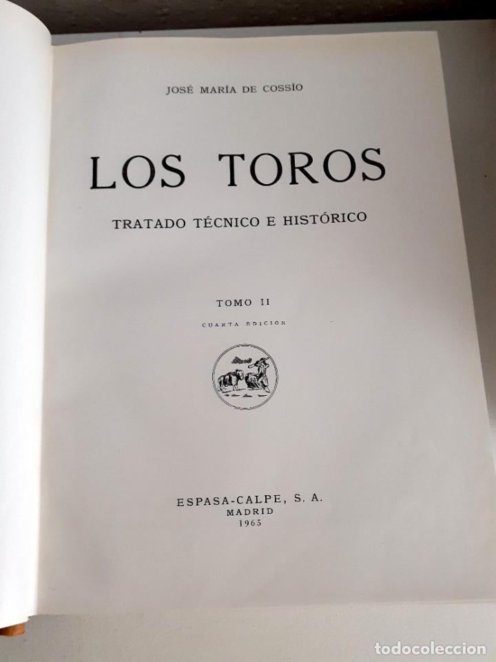 Libros de segunda mano: LOS TOROS TRATADO TECNICO E HISTORICO, 4 tomos. ESPASA CALPE S.A 1967 1965 1969,J MARIA COSSIO - Foto 9 - 203622040