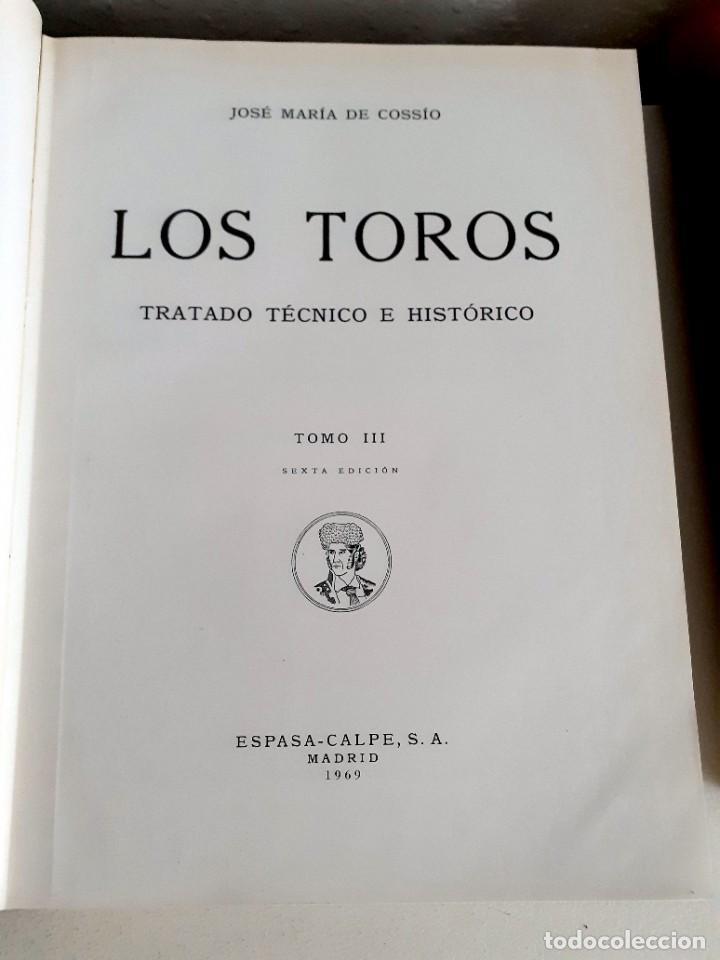 Libros de segunda mano: LOS TOROS TRATADO TECNICO E HISTORICO, 4 tomos. ESPASA CALPE S.A 1967 1965 1969,J MARIA COSSIO - Foto 10 - 203622040