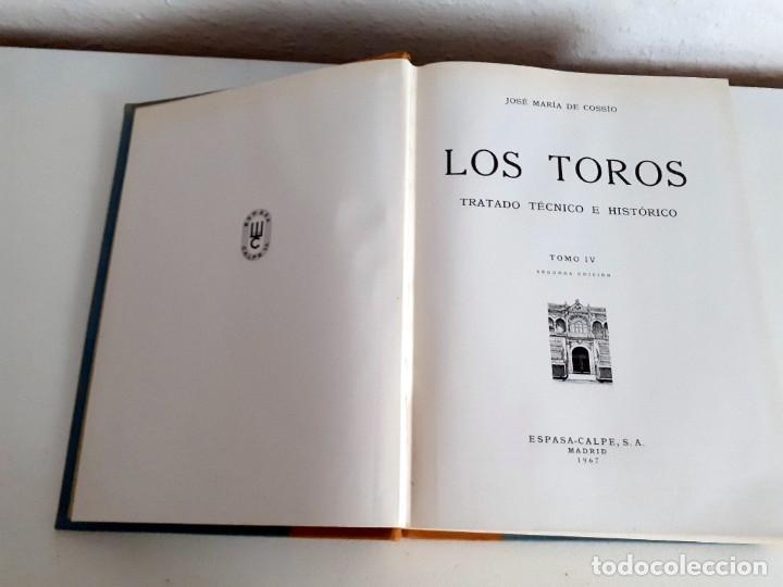 Libros de segunda mano: LOS TOROS TRATADO TECNICO E HISTORICO, 4 tomos. ESPASA CALPE S.A 1967 1965 1969,J MARIA COSSIO - Foto 16 - 203622040