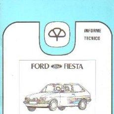 Livros em segunda mão: INFORME TECNICO MAPFRE 10: FORD FIESTA; DESCRIPCION BASICA / ANALISIS DE REPARABILIDAD. A-MOT-309. Lote 203995448