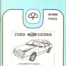 Livros em segunda mão: INFORME TECNICO MAPFRE 15: FORD SIERRA; DESCRIPCION BASICA / ANALISIS DE REPARABILIDAD. A-MOT-314. Lote 203996043