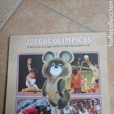 Libros de segunda mano: ORIGINAL LIBRO, HISTORIA DE LOS JUEGOS OLÍMPICOS, DESDE OLÍMPIA HASTA MOSCÚ, 1980,,COLACAO, NUTREXPA. Lote 204306233