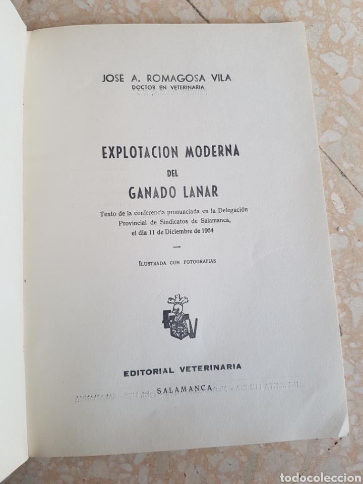 Libros de segunda mano: Explotación Moderna del Ganado Lanar Vol. 1 1965. Editorial Veterinaria - Foto 2 - 204307813