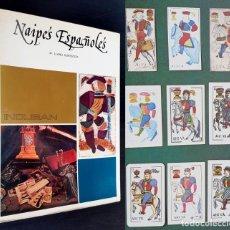 Libros de segunda mano: 1975 - HISTORIA DE LOS NAIPES ESPAÑOLES - MUY ILUSTRADO - NAIPES, BARAJAS, TAROT - FOURNIER, VITORIA. Lote 204534710