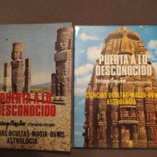 Libros de segunda mano: LOTE 2 LIBROS PUERTA A LO DESCONOCIDO (1977)TELEPSIQUIA-PARAPSICOLOGÍA.CIENCIAS OCULTAS,MAGIA,OVNIS. Lote 204648367
