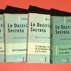 Libros de segunda mano: H. P. BLAVATSKY - LA DOCTRINA SECRETA - 6 VOLÚMENES - COMPLETA - KIER. Lote 204686680