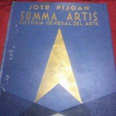 Libros de segunda mano: SUMMA ARTIS. VOL. VI. ARTE PREHISTÓRICO EUROPEO. PIJOAN. 1973. 6 ED.. Lote 205078800