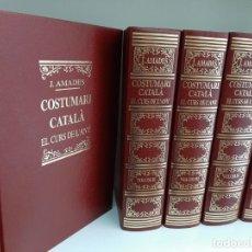 Libros de segunda mano: EL COSTUMARY CATALA, EL CURS DE L´ANY, 5 VOLUMENES, J. AMADES, HISTORIA / HISTORY, SALVAT, 2001. Lote 205123051