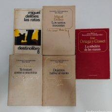 Libros de segunda mano: LOTE MIGUEL DELIBES ORTEGA Y GASSET ROSA MONTERO. Lote 205130976