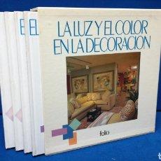 Livres d'occasion: LA LUZ Y EL COLOR EN LA DECORACIÓN COLECCIÓN COMPLETA 4 TOMOS EN ESTUCHE. Lote 205135452
