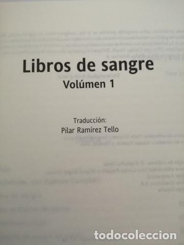 Libros de segunda mano: LIBROS DE SANGRE. VOL. 1. BARKER, CLIVE - Foto 4 - 205148175