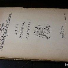 Libros de segunda mano: BOLETÍN DE LA SOCIEDAD ESPAÑOLA DE EXCURSIONES. ARTE, ARQUEOLOGÍA, HISTORIA. IV TRIMESTRE 1943. Lote 205166030