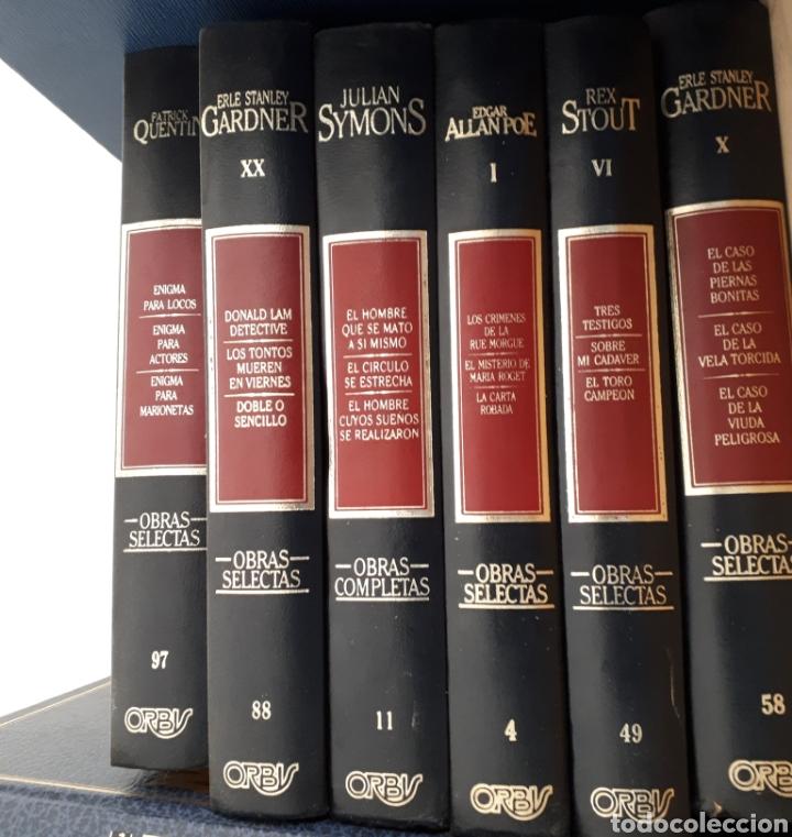 LIBROS. LOTE DE 6 OBRAS SELECTAS.SYMONS.ALLAN POE.STOUT....ENCUADERNACIONES ORIGINALES. (Libros de Segunda Mano (posteriores a 1936) - Literatura - Otros)