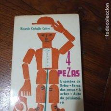 Libros de segunda mano: 4 PEZAS. RICARDO CARBALLO CALERO. ILUSTRACIÓNS DE XOHÁN LEDO. GALAXIA.1971.. Lote 205437872