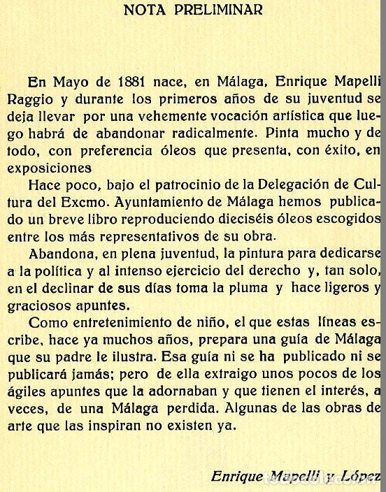Libros de segunda mano: ENRIQUE MAPELLI RAGIO=APUNTES MALAGUEÑOS (DIBUJOS)-VER FOTOS ADICIONALES DE ESTE LIBRO, - Foto 2 - 205657142