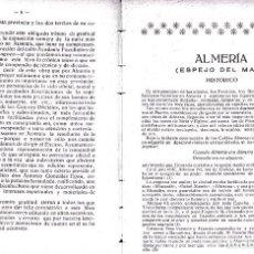 Libros de segunda mano: ALMERIA ESPEJO DEL MAR. POR CAZARD 1925. Lote 205682083