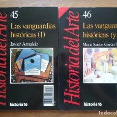 Libros de segunda mano: HISTORIA DEL ARTE LAS VANGUARDIAS HISTORICAS, JAVIER ARNALDO, MARIA SANTOS GARCIA, 45 45 HISTORIA 16. Lote 205687480