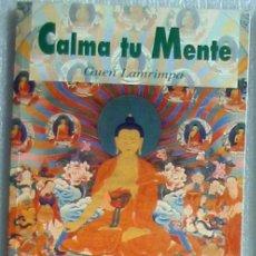 Libros de segunda mano: CALMA TU MENTE - GUEN LAMRIMPA - ENSEÑANZAS SOBRE LA QUIETUD MENTAL - ED. DHARMA 2004 - VER INDICE. Lote 205772808