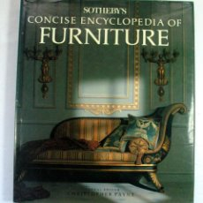 Livres d'occasion: SOTHEBY´S. CONCISE ENCYCLOPEDIA OF FURNITURE. MUEBLE. ANTIGUEDADES.. Lote 205828395