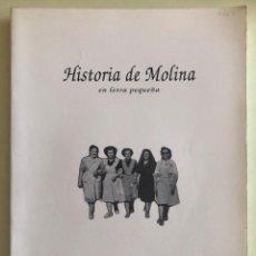 Libros de segunda mano: MOLINA DE SEGURA- MURCIA- HISTORIA DE MOLINA- MARIA JOSE IGLESIAS PAGEO- 1994. Lote 205830948